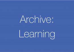 Archive – Learning